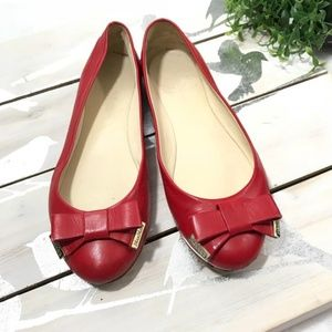 Max Mara Silvana Ballet Flats Red Italy Sz 36 US 6